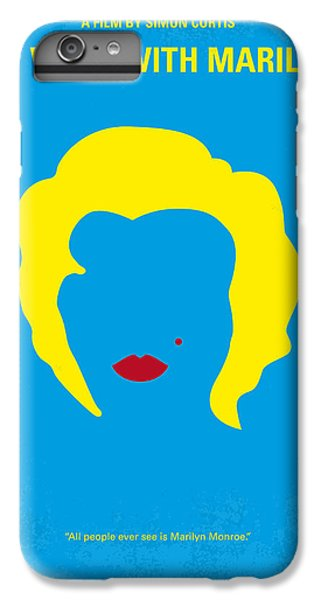No284 My Week With Marilyn Minimal Movie Poster IPhone 6 Plus Case by Chungkong Art