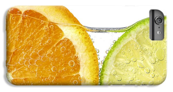 Orange And Lime Slices In Water IPhone 6 Plus Case by Elena Elisseeva