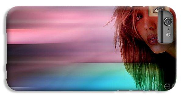 Original Jessica Alba Painting IPhone 6 Plus Case by Marvin Blaine