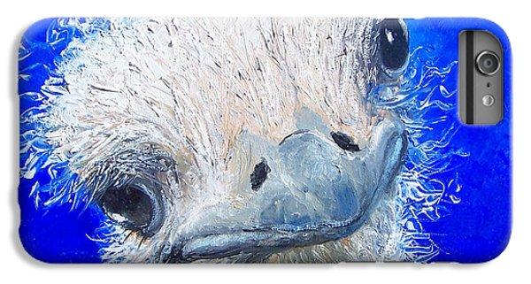 Ostrich Painting 'waldo' By Jan Matson IPhone 6 Plus Case by Jan Matson