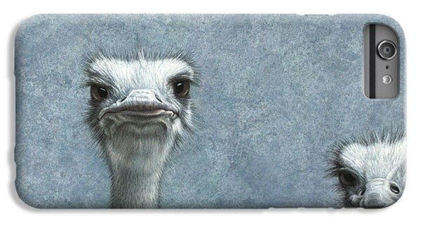 Ostriches IPhone 6 Plus Case by James W Johnson