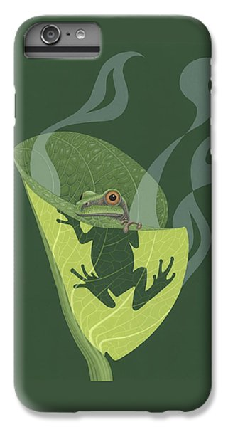Pacific Tree Frog In Skunk Cabbage IPhone 6 Plus Case by Nathan Marcy