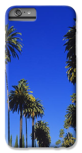 Palm Trees Along A Road, Beverly Hills IPhone 6 Plus Case by Panoramic Images