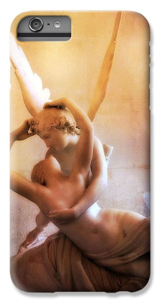 Paris Eros And Psyche Louvre Museum- Musee Du Louvre Angel Sculpture - Paris Angel Art Sculptures IPhone 6 Plus Case by Kathy Fornal