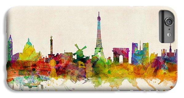 Paris France Skyline Panoramic IPhone 6 Plus Case by Michael Tompsett