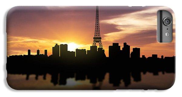 Paris France Sunset Skyline  IPhone 6 Plus Case by Aged Pixel