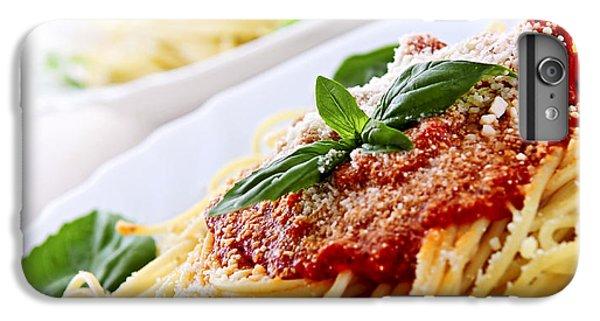 Pasta And Tomato Sauce IPhone 6 Plus Case by Elena Elisseeva