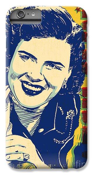 Patsy Cline Pop Art IPhone 6 Plus Case by Jim Zahniser