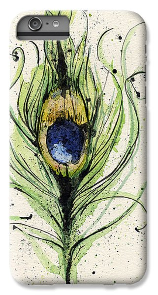 Peacock Feather IPhone 6 Plus Case by Mark M  Mellon