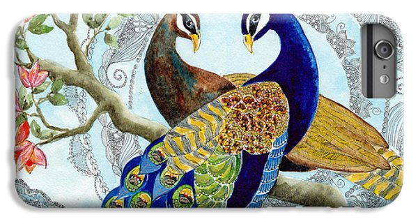 Peacock Love IPhone 6 Plus Case by Susy Soulies