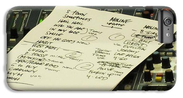 Pearl Jam Set List- Moline IPhone 6 Plus Case by Gary Koett