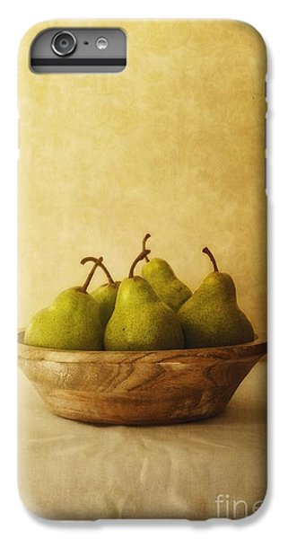 Pears In A Wooden Bowl IPhone 6 Plus Case by Priska Wettstein