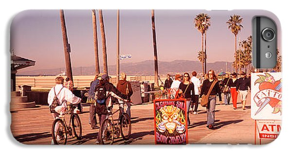 People Walking On The Sidewalk, Venice IPhone 6 Plus Case by Panoramic Images