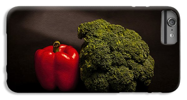 Pepper Nd Brocoli IPhone 6 Plus Case by Peter Tellone