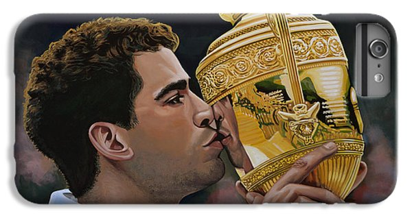 Pete Sampras IPhone 6 Plus Case by Paul Meijering
