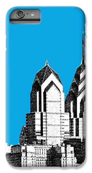 Philadelphia Skyline Liberty Place 1 - Ice Blue IPhone 6 Plus Case by DB Artist
