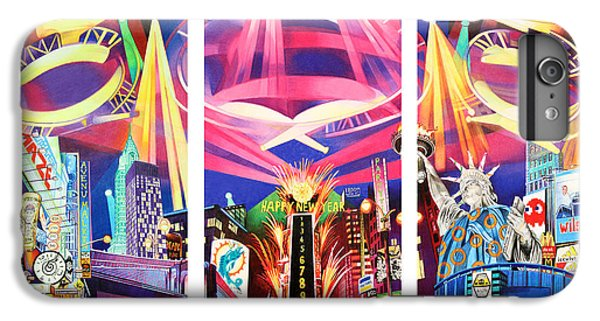Phish New York For New Years Triptych IPhone 6 Plus Case by Joshua Morton