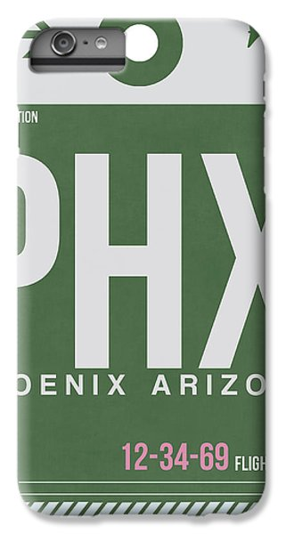 Phoenix Airport Poster 2 IPhone 6 Plus Case by Naxart Studio
