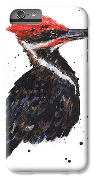 Pileated Woodpecker Watercolor IPhone 6 Plus Case by Alison Fennell