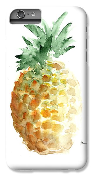 Pineapple Art Print Watercolor Painting IPhone 6 Plus Case by Joanna Szmerdt