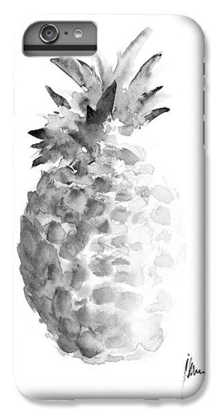 Pineapple Painting Watercolor Art Print IPhone 6 Plus Case by Joanna Szmerdt