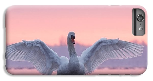 Pink Swan IPhone 6 Plus Case by Roeselien Raimond
