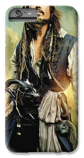 Pirates Of The Caribbean Johnny Depp Artwork 1 IPhone 6 Plus Case by Sheraz A