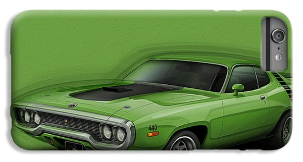 Plymouth Roadrunner 1972 IPhone 6 Plus Case by Etienne Carignan