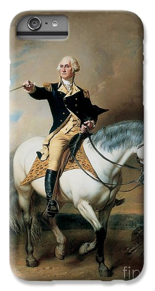 Portrait Of George Washington Taking The Salute At Trenton IPhone 6 Plus Case by John Faed