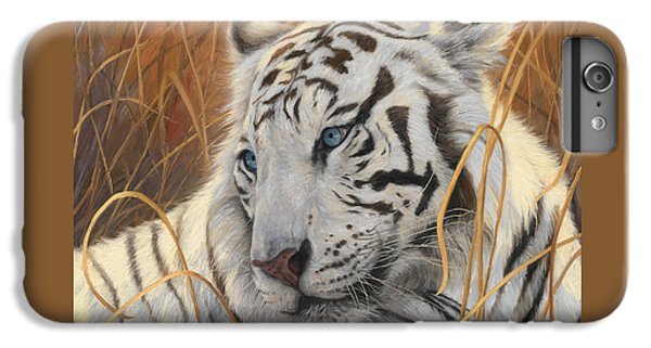 Portrait White Tiger 1 IPhone 6 Plus Case by Lucie Bilodeau