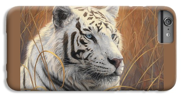 Portrait White Tiger 2 IPhone 6 Plus Case by Lucie Bilodeau
