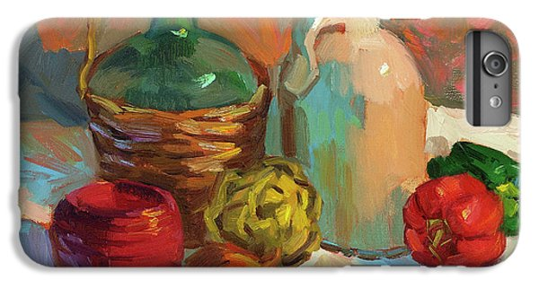 Pottery And Vegetables IPhone 6 Plus Case by Diane McClary