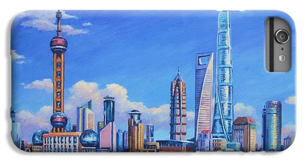 Pudong Skyline  Shanghai IPhone 6 Plus Case by John Clark