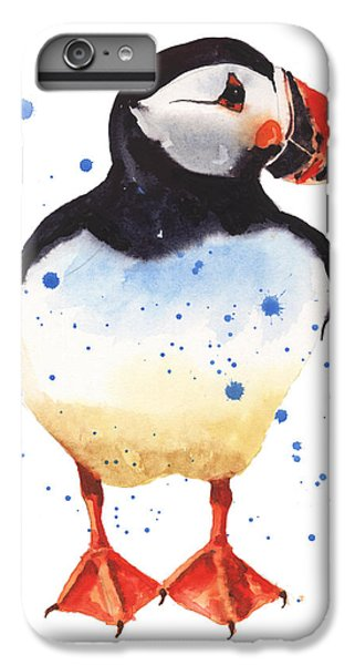 Puffin Watercolor IPhone 6 Plus Case by Alison Fennell