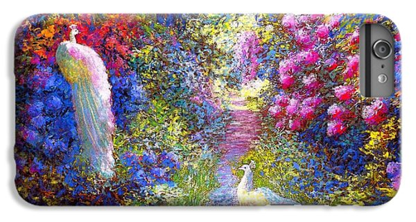 White Peacocks, Pure Bliss IPhone 6 Plus Case by Jane Small