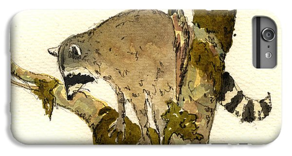 Raccoon On A Tree IPhone 6 Plus Case by Juan  Bosco