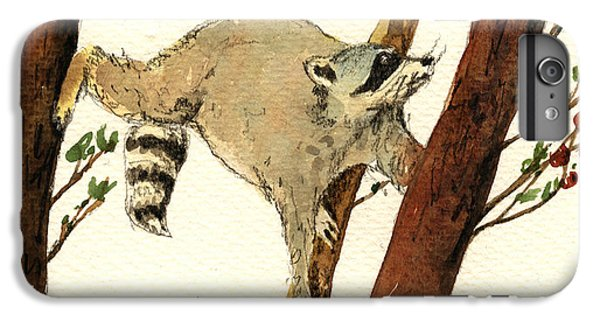 Raccoon On Tree IPhone 6 Plus Case by Juan  Bosco