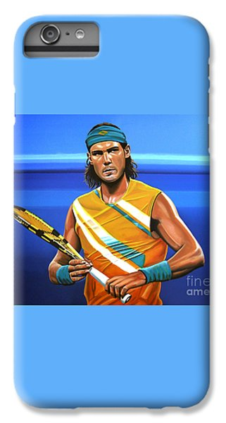 Rafael Nadal IPhone 6 Plus Case by Paul Meijering