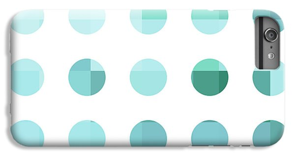 Rainbow Dots Aqua  IPhone 6 Plus Case by Pixel Chimp