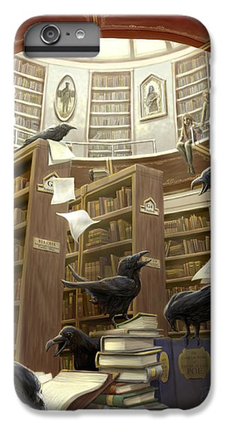 Ravens In The Library IPhone 6 Plus Case by Rob Carlos