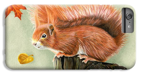 Red Squirrel In Autumn IPhone 6 Plus Case by Sarah Batalka