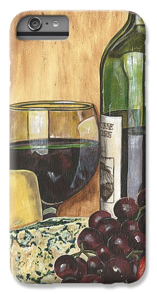 Red Wine And Cheese IPhone 6 Plus Case by Debbie DeWitt