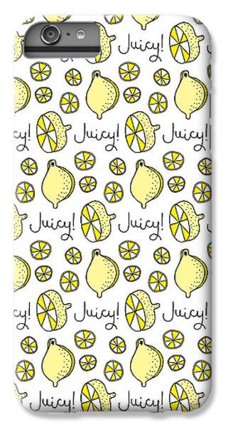 Repeat Prtin - Juicy Lemon IPhone 6 Plus Case by Susan Claire