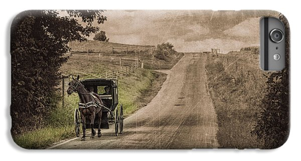 Riding Down A Country Road IPhone 6 Plus Case by Tom Mc Nemar