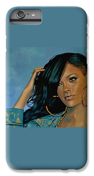 Rihanna Painting IPhone 6 Plus Case by Paul Meijering