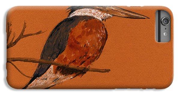 Ringed Kingfisher Bird IPhone 6 Plus Case by Juan  Bosco