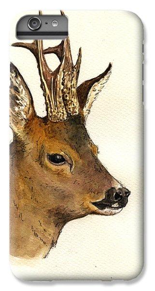Roe Deer Head Study IPhone 6 Plus Case by Juan  Bosco