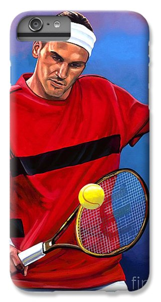Roger Federer The Swiss Maestro IPhone 6 Plus Case by Paul Meijering