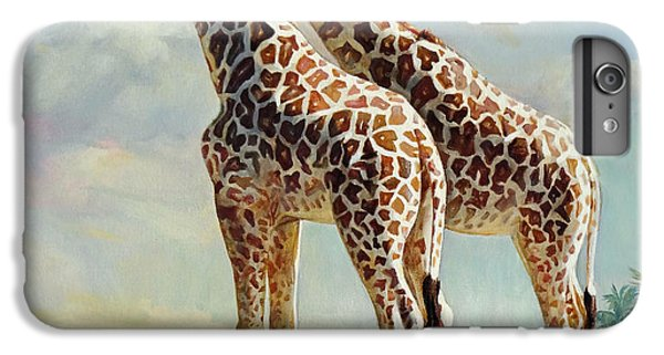 Romance In Africa - Love Among Giraffes IPhone 6 Plus Case by Svitozar Nenyuk