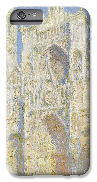Rouen Cathedral West Facade IPhone 6 Plus Case by Claude Monet